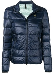 Blauer Zip Puffer Jacket Blue