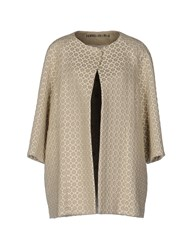 Femme By Michele Rossi Overcoats Beige