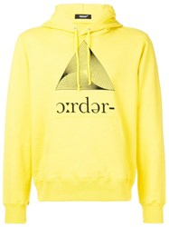 Undercover Printed Hoodie Yellow And Orange