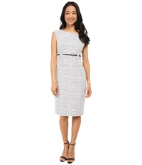 Calvin Klein Empire Waist Sheath Cd5xnbd6 Black Cream Women's Dress