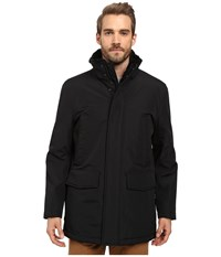 Marc New York Tolland City Rain Car Coat With Faux Rabbit Fur Lining Black Men's Coat