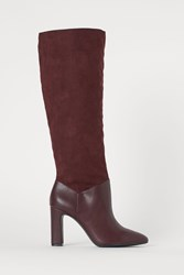 Handm H M Knee High Boots Red