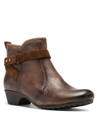 Cobb Hill Ginny Leather Booties Tan