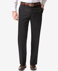 Dockers Signature Stretch Straight Fit Flat Front Khaki Pants Black