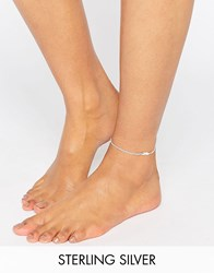 Kingsley Ryan Sterling Silver Feather Anklet Silver
