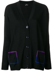 Paul Smith Ps By Contrast Pocket Cardigan Black