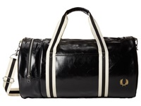 Fred Perry Classic Barrel Bag Black Gold Duffel Bags