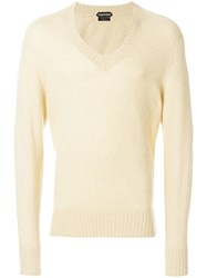 Tom Ford V Neck Jumper Nude And Neutrals