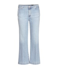 Ag Jeans Layla Cropped Flared Jeans Blue
