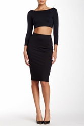 David Lerner Tube Midi Skirt Black