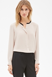 Forever 21 Round Collar Chiffon Blouse