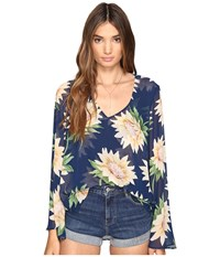 Show Me Your Mumu Hippie Dippie Top Sunflower Dreams Women's Clothing Blue
