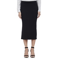 Rib Knit Midi Tube Skirt Black