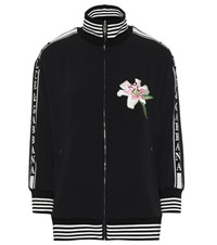 Dolce And Gabbana Embroidered Cady Track Jacket Black