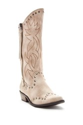 Michael Antonio Bermuda Cowgirl Boot White
