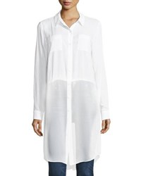 Bcbgeneration Poplin Shirting Tunic White
