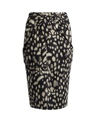 Max Mara Calca Skirt Black Print
