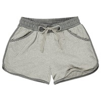 Fat Face Jersey Striped Shorts Grey