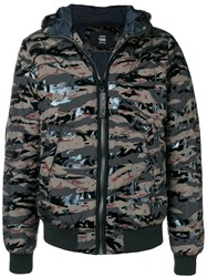 G Star Raw Camouflage Puffer Jacket Green