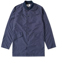 Nanamica Ground Long Bomber Jacket Blue