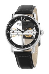 Stuhrling Men's Mechanical Skeletonized Bridge Dress Watch Metallic