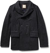 Billy Reid Bond Virgin Wool Peacoat Blue