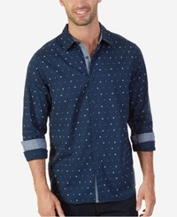 Nautica Men's Anchor Dot Print Shirt Maritime Navy