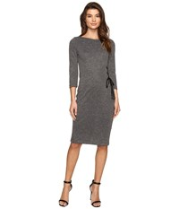Christin Michaels Lillia Side Lace Up Bodycon Midi Dress Grey Women's Dress Gray