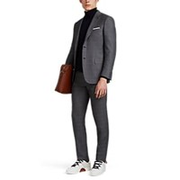 Brioni Brunico Wool Silk Two Button Suit Gray