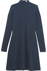 Title A Stretch Cotton Jersey Mini Dress Navy