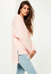 Missguided Pink Exposed Seam Jumper