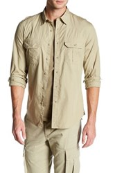 Dockers 30Th Anniversary Military Slim Fit Shirt Beige