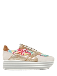 No Name 40Mm Canvas Floral Suede Sneakers