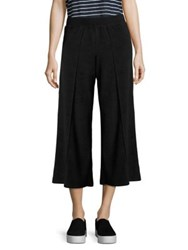 Atm Anthony Thomas Melillo Terry Cropped Wide Leg Pants Black