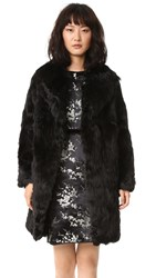 Marc Jacobs Alpaca Fur Coat Black