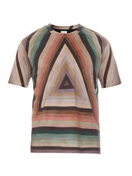 Paul Smith Graphic Triangle Print Cotton T Shirt