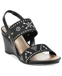 Impo Verdie Wedge Sandals Women's Shoes Black
