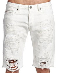 Cult Of Individuality Rebel Jean Shorts White