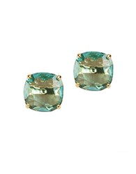 Kate Spade Gold Plated Faceted Stud Earrings Blue
