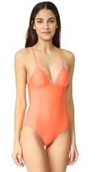 Splendid Stitch Swimsuit Coral