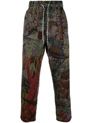 Vivienne Westwood All Over Print Trousers Grey