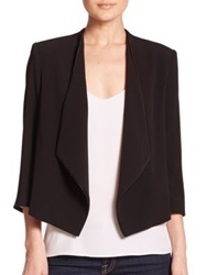 Alice Olivia Oliver Draped Blazer Black