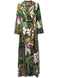 F.R.S For Restless Sleepers Floral Wrap Dress Green
