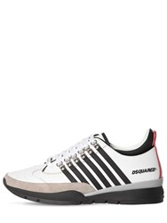 Dsquared 50Mm Leather Low Top Sneakers White