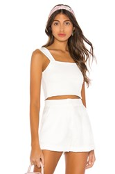 Amuse Society Easy Love Crop Top White