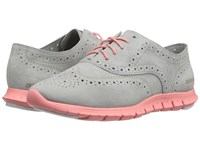 Cole Haan Zerogrand Wing Oxford Sliver Mist Blush Women's Shoes Gray