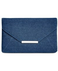 Styleandco. Style And Co. Lily Denim Clutch Only At Macy's Dark Blue