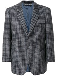 Pierre Cardin Vintage Checked Notched Lapel Jacket Grey