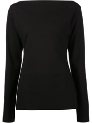 Tomas Maier Boat Neck Top Black