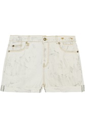 R 13 Denim Shorts White